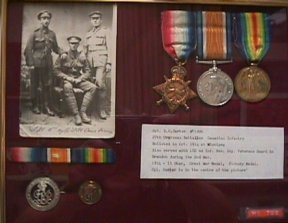 Corporal Curter Medals Display